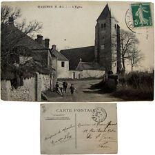 Cpa 28 Hanches 1913 l'église carte postale Play proche Epernon