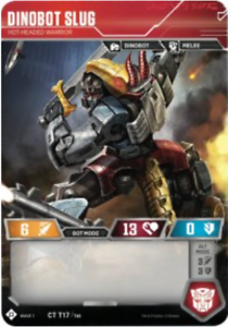 Transformers Cards # Dinobot Slug CT T17//T40