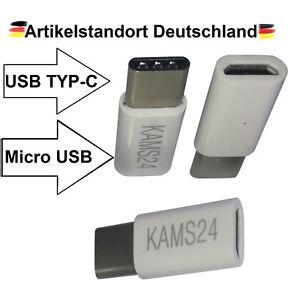 Fein 3 Adapter Typ-c 3.1 Zu Micro Usb Konverter Tablet Stecker Buchse Ladekabel Weiß HeißEr Verkauf 50-70% Rabatt Computer, Tablets & Netzwerk