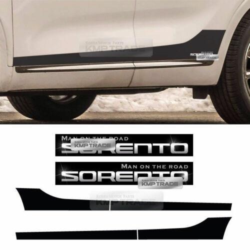 Side Line Door Protector Decal Sticker Chrome Logo 6P for KIA 2015-2018 Sorento
