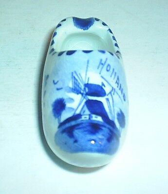Cerámica Delft obstruir Zapato Azul Y Blanco patrón Holland Windmill Imagen Esmaltado