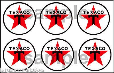 6 7//8TH .875 INCH TEXACO DECAL STICKER SHEET