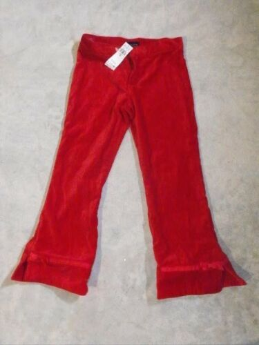 The Children/'s Place Girls Holiday Pants Size 14 Flared Red Velvet NWT New