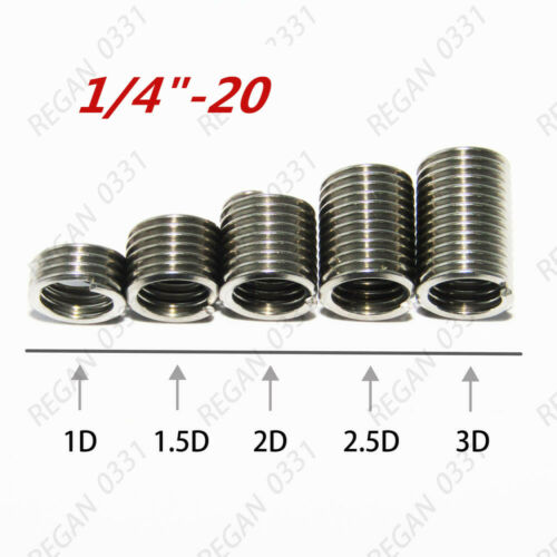 1//4-20 3//8-16  304 Stainless Helical Coil Wire Thread Insert British system