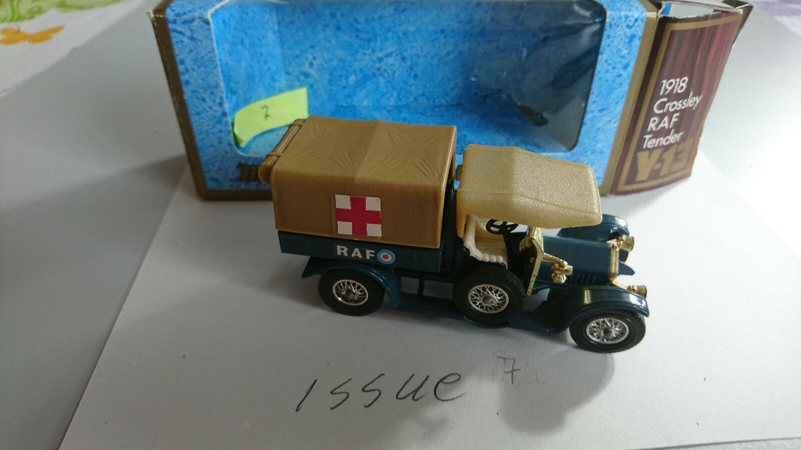 MODELS OF YESTERYEAR-Y 13  Crossley  RAF  dans neuf dans sa boîte  populaire