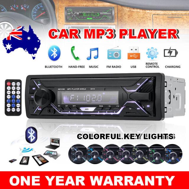 Car Stereo Bluetooth Radio Audio In-Dash Head Unit Single DIN FM SD Music Player