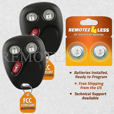 2 Car Key Fob Keyless Remote For 2002 2003 2004 2005 2006 Chevrolet Trailblazer