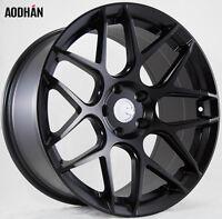 18x9 Aodhan Ls002 Rims 5x120 +30 Matte Black Wheels Fits Lexus Ls460 2007-2016 on Sale