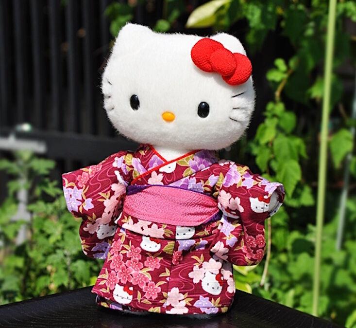 Hello Kitty Japan  Limited Plush bambola Rare Kimono Stuffed Kawaii rosso nuovo Sanrio  prezzo basso