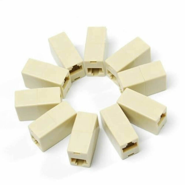 New 5 x RJ45 Ethernet Network LAN Cable Extension Plug Adapter Connector