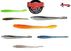 12pcs-Lunker-City-Ribster-7-6cm-7-5cm-Natacion-Senuelos-Cebo-Depredador-Pesca