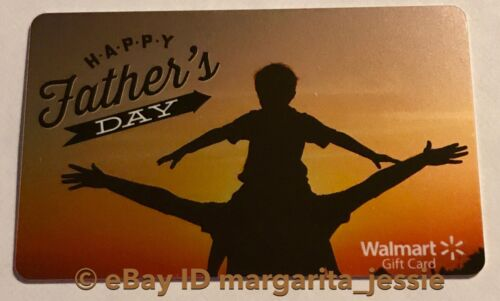 """WALMART US GIFT CARD /""""HAPPY FATHER/'S DAY/"""" VACATION SUNSET DAD /& SON NO VALUE NEW"""