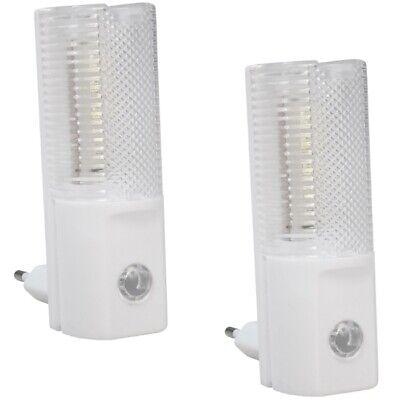 Goed 2x Led-nachtlicht Ln-04 M. Dämmerungssensor Mit 4 Weißen Leds Für Steckdose 230v