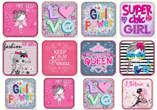 ✿ jolie applications raccommoder écusson 12 St. Fille Fashion Girl Power Princess