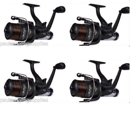 4 x Shakespeare 6000 Beta  Freespool Carp Fishing Reels Bait, Switch  preferential