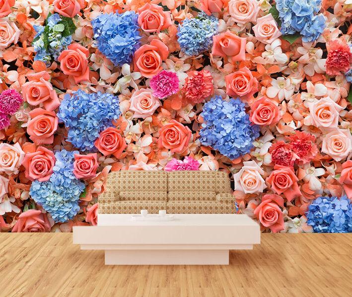 3D Various Flowers 009 WallPaper Murals Wall Print Decal Wall Deco AJ WALLPAPER