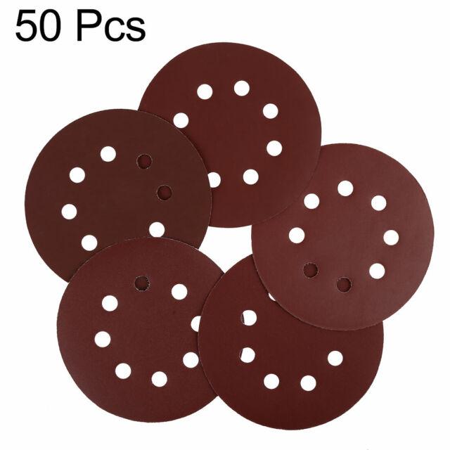 Indasa Rhynogrip 6 inch Solid White Hook /& Loop Sanding Discs 400 Grit 50//box