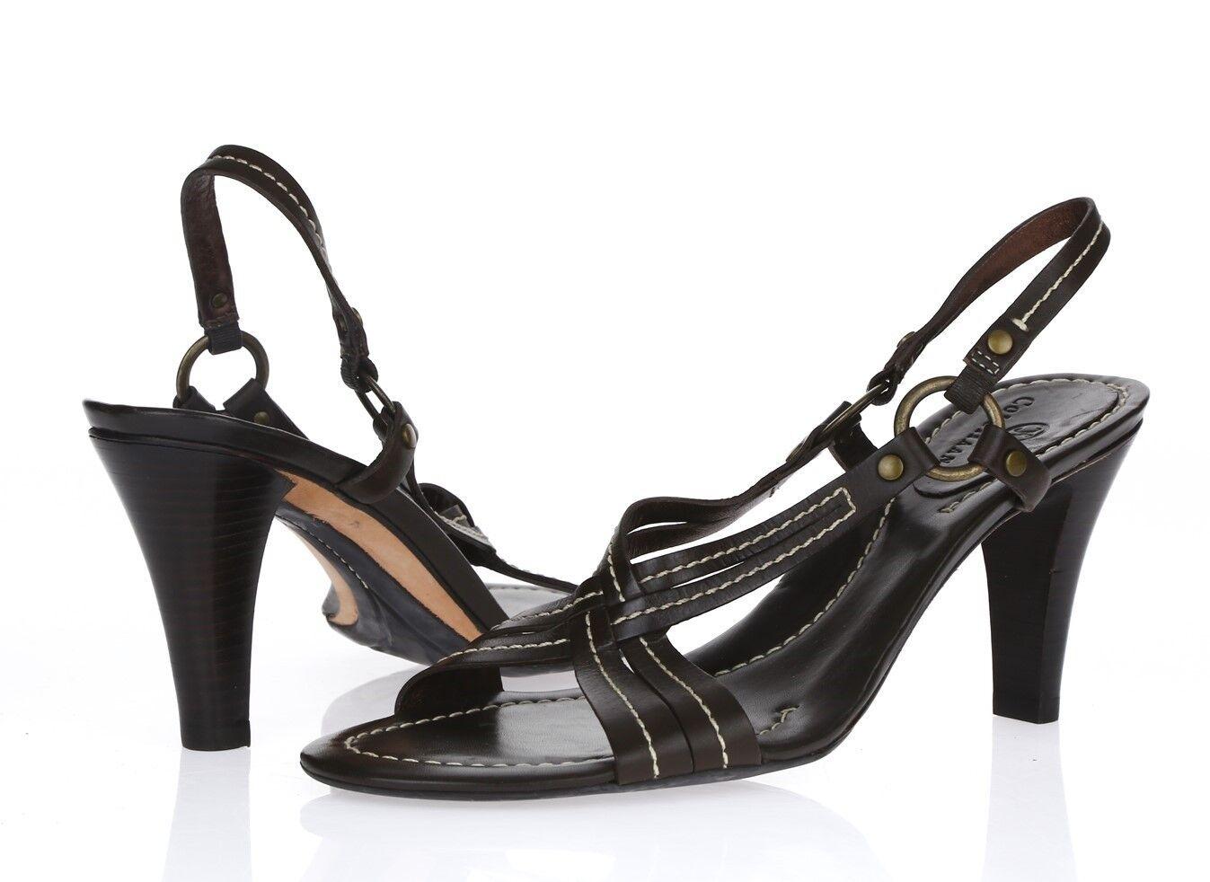 Damenschuhe COLE HAAN 204892 Braun Leder slingback Sandale sz. 8.5 AA