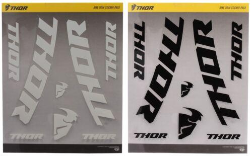 Thor Bike Trim Sticker Pack 2 Pack Aufklebersatz Stickerbogen schwarz//weiß