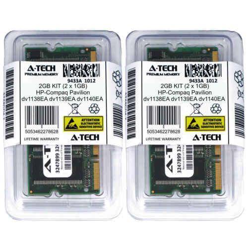2GB KIT 2 x 1GB HP Compaq Pavilion dv1138EA dv1139EA dv1140EA Ram Memory