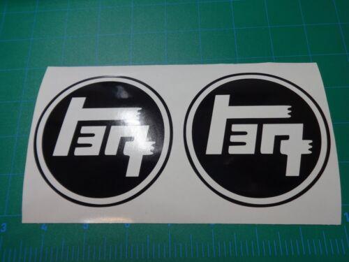 2x Toyota JDM TEQ logo decal Tundra Supra MR2 Celica Corolla FJ 4Runner Tacoma