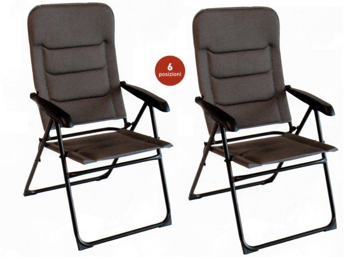 Sessel Onyx 6 Positionen Camping Gepolstert Wiederverschließbar Angebot 2 Stück