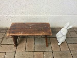 Surprising Details About Vintage Antique Primitive Wood Bucket Bench Plant Stand Mud Room Country Milking Gmtry Best Dining Table And Chair Ideas Images Gmtryco