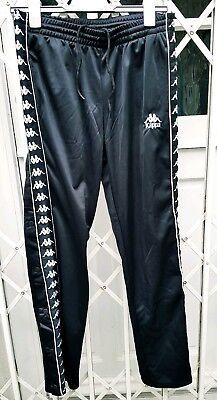 BNWOT Kappa Negro Cinta Popper Pantalones Chándal Pantalones Deportivos Talla M 10 magnífico | eBay