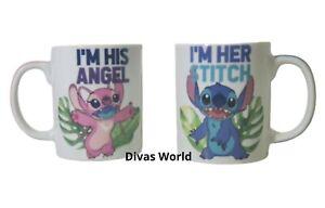 Disney-Lilo-amp-Stitch-Angel-Mugs-Set-Of-2-Mug-Novelty-Drinking-Cups-Primark-Boxed