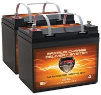 Abec Slider 60 Comp. (2) Vmax Mb857 12v 35ah Agm U1 Wheelchair Batteries