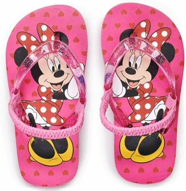 Pink Size 7//8 Disney Minnie Mouse Toddler Flip Flop Sandals