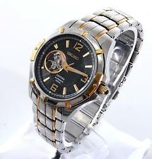 Seiko Coutura Mens Stainless Steel Gold Two Tone Automatic Skeleton Watch SRP318
