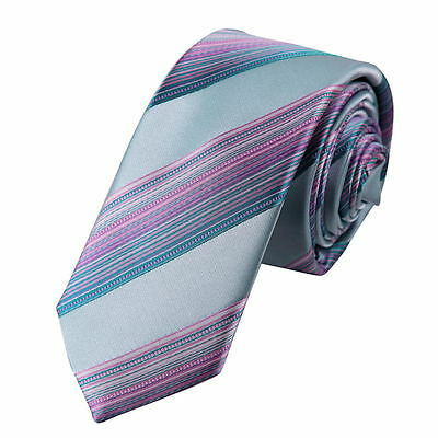 PS1179 Red Light Pink Striped Cheap For Wedding Silk Skinny Tie Epoint