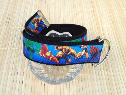 Iron Man Super Heroes Inspired Boys Belt Spiderman Hulk Ribbon Belt