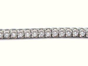Platinum-Round-Cut-Diamond-Bezel-Set-Tennis-Bracelet-7-034-5-26CT-COLOR-MASTERS