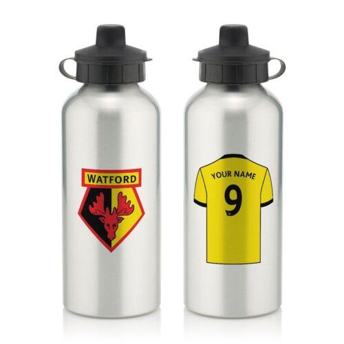 Watford F.C Camicia Personalised bottiglia di acqua in alluminio