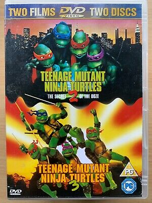 Teenage Mutant Ninja Turtles 2 3 Dvd Ii Iii Movie Double Feature 2 Film Set 5039036010177 Ebay