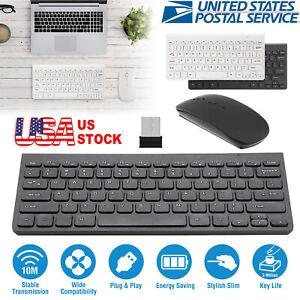 Wireless Keyboard & Mouse Combo Full-Size 2.4GHz Silent USB for Desktop / Laptop