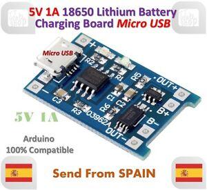 Détails sur 5V 1A Micro USB 18650 Lithium Batterie Chargeur Board Charger Module