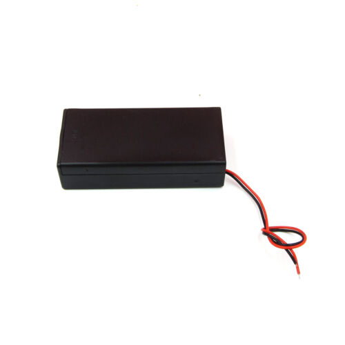 3.7V 2 x 18650 Battery Holder Storage Box Case With Cable ON//OFF Switch ASS