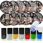 20pcs/set Born Pretty Manicure Nail Stamping Plates Kit Set Stamping Polish Tool