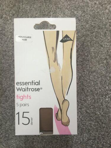 Black Nylon 15 Denier Nude Waitrose 5 x Ladies Tights