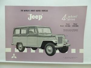 Details about Jeep J30 J30D RHD Dealer Brochure Mitsubishi Literature L9077