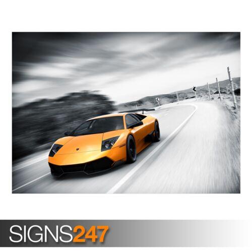 AA569 CAR POSTER Photo Poster Print Art * All Sizes MURCIELAGO SUPERVELOCE