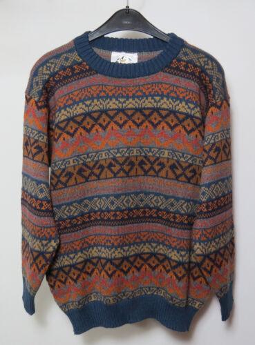 Pull femmes M 100 Pérou laine bleu laine motifs hommes en Pull en alpaga à maille de qaZHF