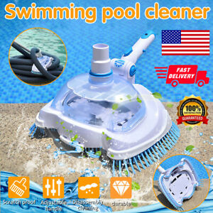 """12"""" Swimming Pool Vacuum Suction Tank Head Cleaning Brush Pool Cleaner Tool US"""