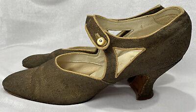 90/'s Black Floral Brocade Slingback Heels  Size 7