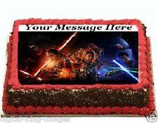 Star Wars the force awakens Cake topper edible digital image icing  FONDANT