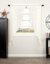 Prairie Curtain Panels in White - Set of 2