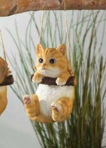 Hanging-tabby-cat-swing-tree-Statue-outdoor-garden-sculpture-yard-lawn-ornament